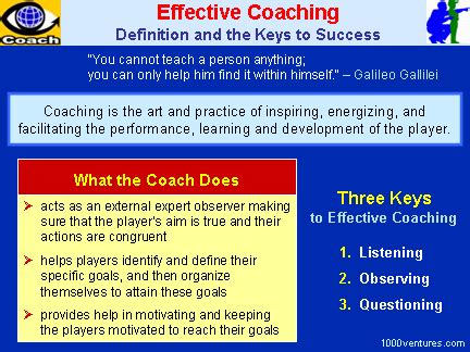 meaning of couching effective coaching quotes quotesgram