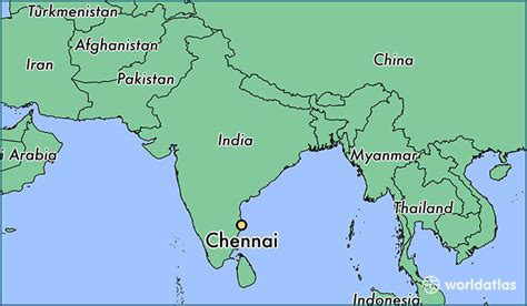 location of america in world map where is chennai india where is chennai india located