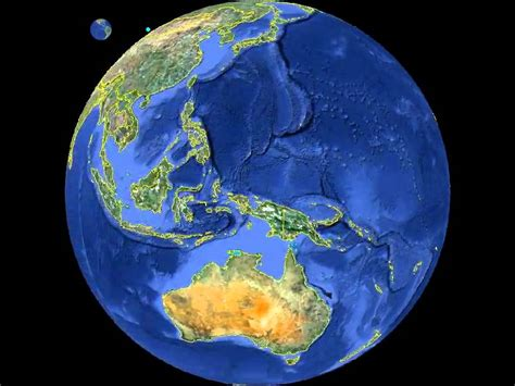 planet earth globe animation  country borders