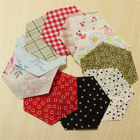 Patchwork Diy - 10pcs mixed color hexagon diy sewing cotton patchwork