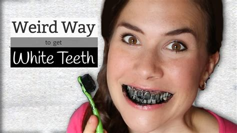 activated charcoal weird   whiten teeth youtube