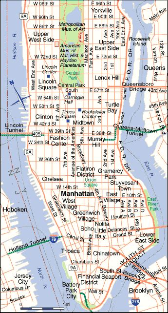 map manhattan streets brungki map of manhattan