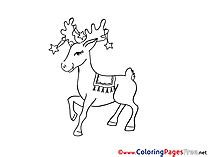 winter deer coloring page winter coloring pages