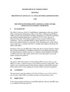 Business Letter Of Understanding Sample 10 Best Images Of Sample Memorandum Understanding Business Sample Memorandum Understanding