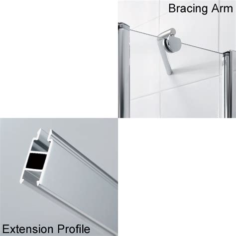Shower Door Extension Profile lakes extension profiles and shower bracing kits buy