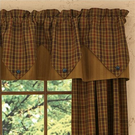 Plaid Drapery Panels Primitive Curtains For Warm And Friendly Effects In The
