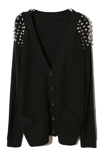 Studded Sweater studded cardigan a cool mix of styles fashion