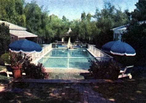 joan crawford house pool at joan crawford s home 26 north bristol drive brentwood california old