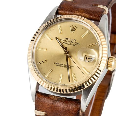 Rolex Leather 3 rolex datejust 16013 leather band