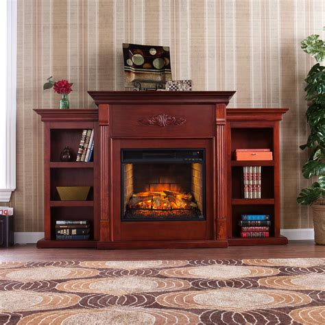 tennyson infrared electric fireplace media center package