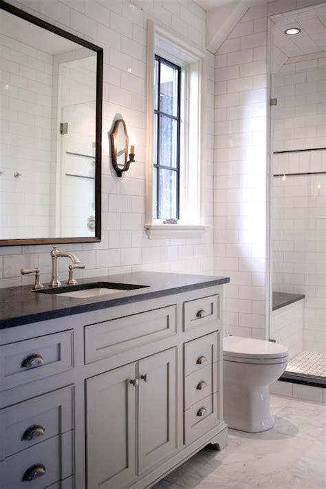 full bath with vanity with granite top tile backsplash jet mist countertop transitional bathroom cr home design
