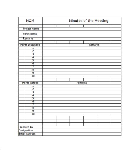 minute meeting template free meeting minutes template 13 free documents in