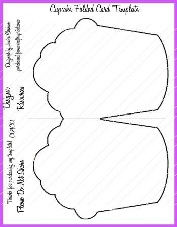 cupcake shaped card template folded cards student centered resources and creative on