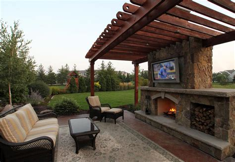 outdoor living room with fireplace rustic outdoor living room ground one