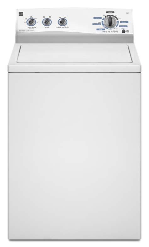 top load washer with agitator kenmore 21252 3 4 cu ft top load washing machine w 174 agitator white shop your