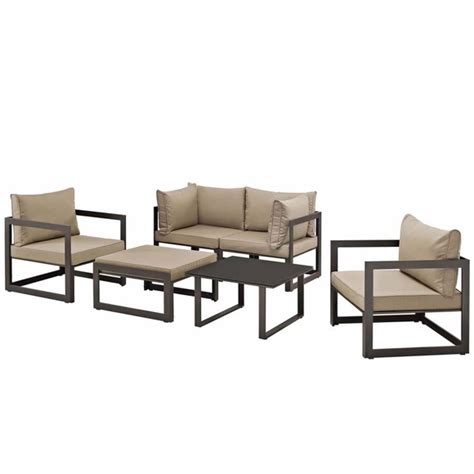outdoor sofa sectional fortuna 6 outdoor patio sectional sofa set modern