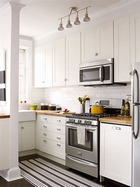 Small Kitchen With White Cabinets with Small White Kitchens
