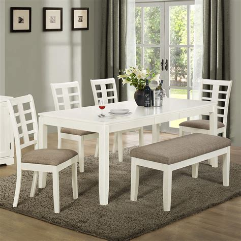 white dining room sets 26 big small dining room sets with bench seating