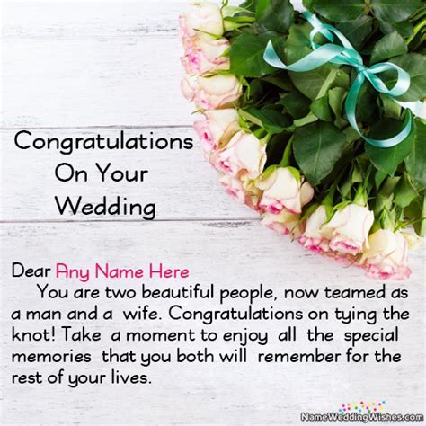 Lovely Wishes On Your Wedding Day Congratulations