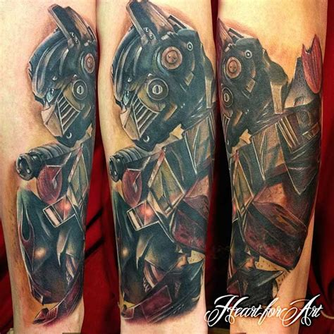 optimus prime tattoo here s a dony by danny of optimus prime from the