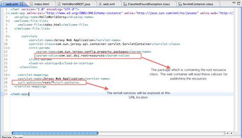 Jersey Tutorial Web Xml | developers of java restful web services tutorial