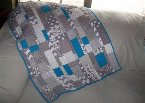 Teal Quilts by You To See Grey And Teal Modern Baby Quilt On Craftsy