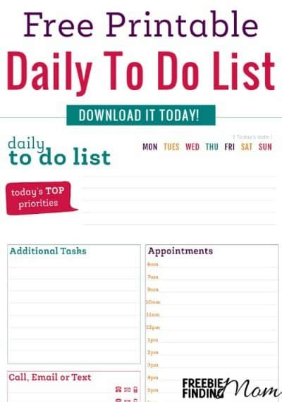 printable to do list for moms 29 free home organization printables page 3