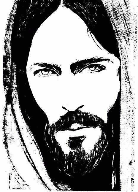 imagenes bonitas para dibujar en blanco y negro im 225 genes y dibujos del rostro de jesucristo en blanco y negro