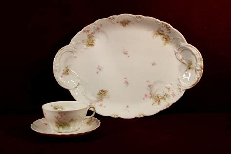 china pattern with pink flowers haviland china platter cup saucer pink floral pattern