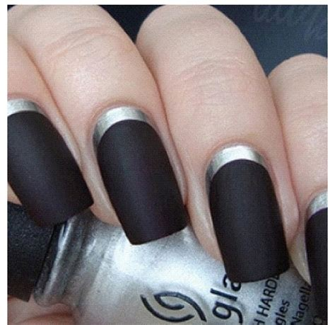 Mat Black Nails by Matte Black Nails Nail Trends