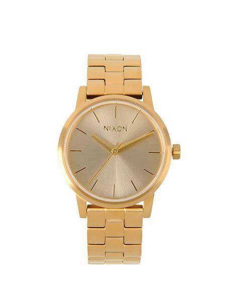 nixon wrist watches in gold lyst