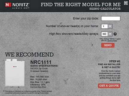tankless water heater calculator size noritz sizing calculator designed to support tankless
