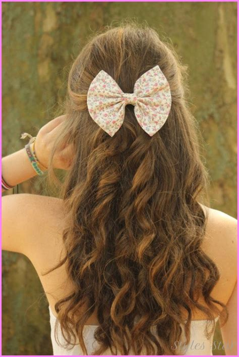 hairstyles for curly hair for school cute hairstyles for long curly hair school stylesstar com