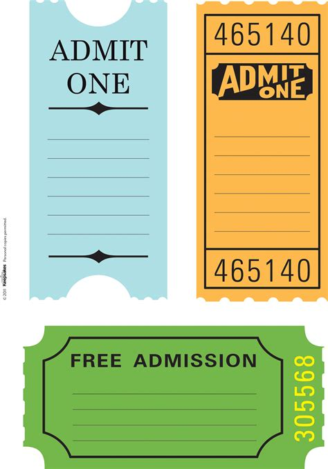 7 best images of printable ticket paper free printable