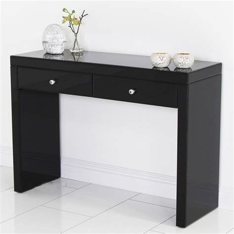 black makeup desk with drawers mirrored dressing black modern console desk vanity