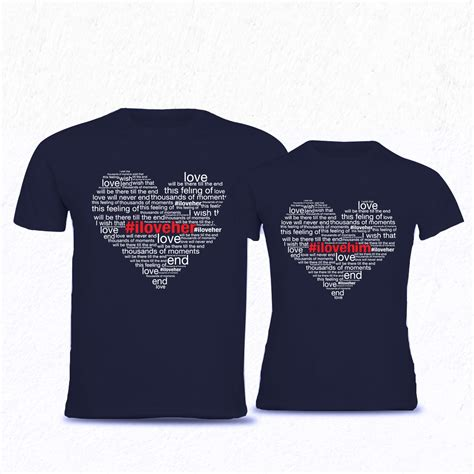 T Shirts For Couples I Him Clothing