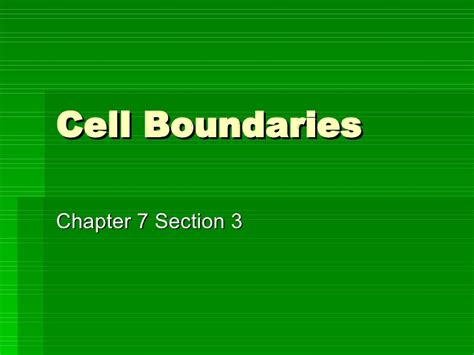 Section 7 3 Cell Boundaries by Cell Boundaries Part 1
