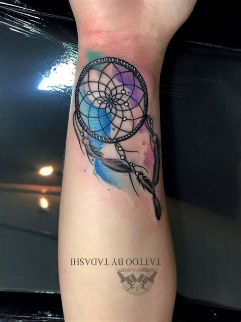 watercolor dreamcatcher tattoos watercolor tattoos