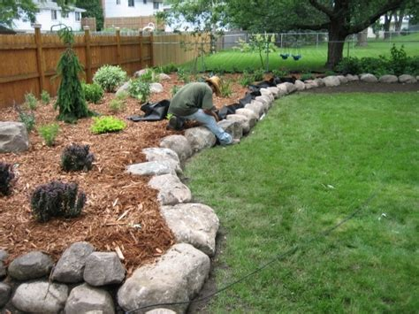 yard landscaping ideas with rocks house floor plans
