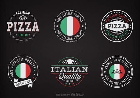 free italiano free chalk italian badges vector free vector