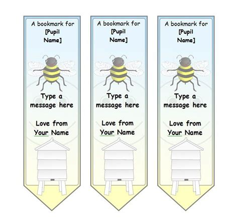 printable name bookmarks bookmark template 03 education ideas pinterest
