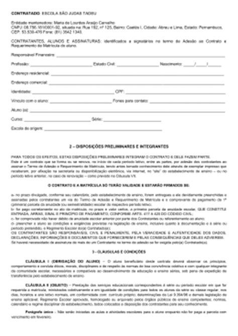 contrato escolar circular de matr 237 cula 2016 col 233 gio passionista s 227 o gabriel