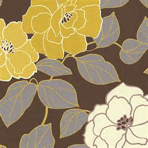 brown yellow modern floral fabric modern upholstery