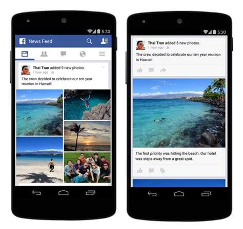 layout app for facebook facebook introduces photo story feature for android and