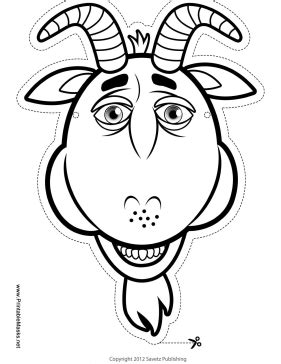 printable mask goat printable goat mask to color mask