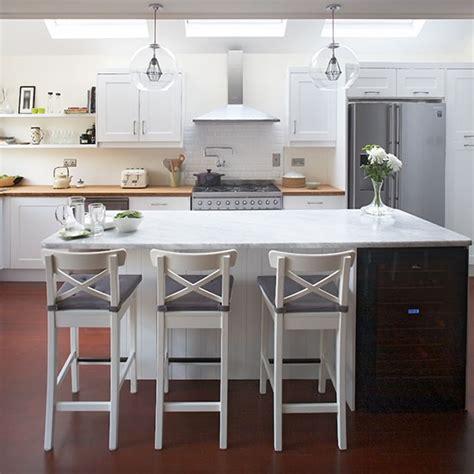 white modern breakfast bar kitchen beautiful kitchens modern white shaker kitchen with breakfast bar ideal home