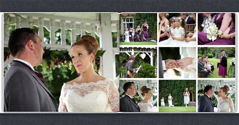 wedding photo book page layout wedding book wedding photographer hshire cornwall