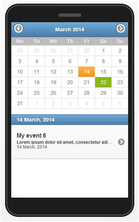 mobile calendar jquery mobile event calendar by ubient codecanyon