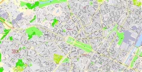 printable map brussels map bruxelles brussels printable vector illustrator