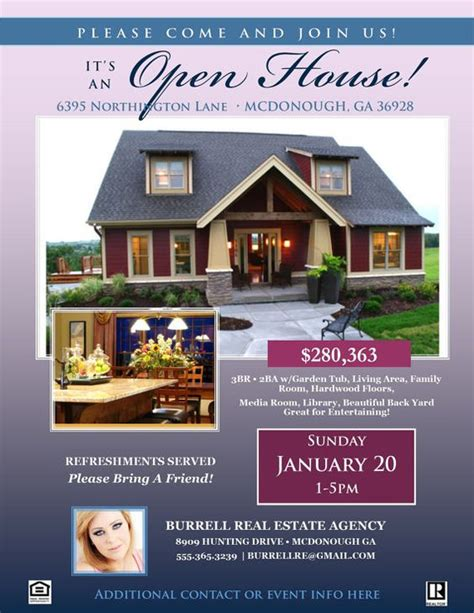 real estate listing flyer template free real estate open house flyer template microsoft